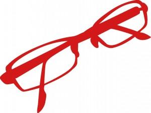 赤い眼鏡でポジティブに変身
