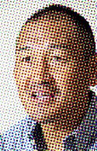 広いおでこのモヒカンスタイル・秋田豊氏